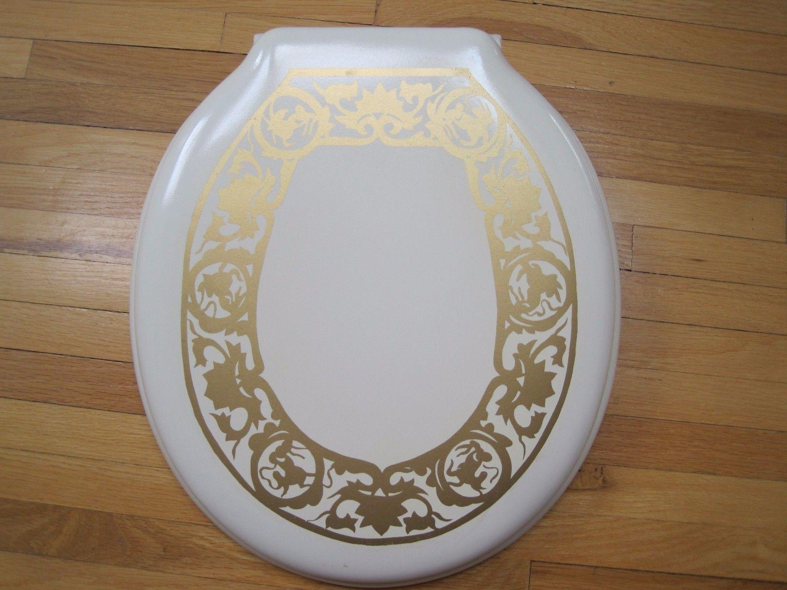 NEW! American Standard Round Toilet Seat with Beautiful Gold