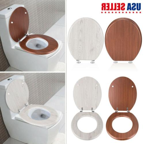 new round toilet seat adjustable chrome hinges