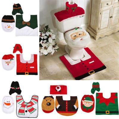 New Toilet Seat Santa Snowman Elks Elf Covers Christmas Bath