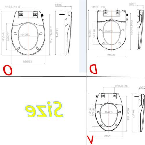 O/V/D Toilet Bidet Seat, Non Simple to Install Cover Hose