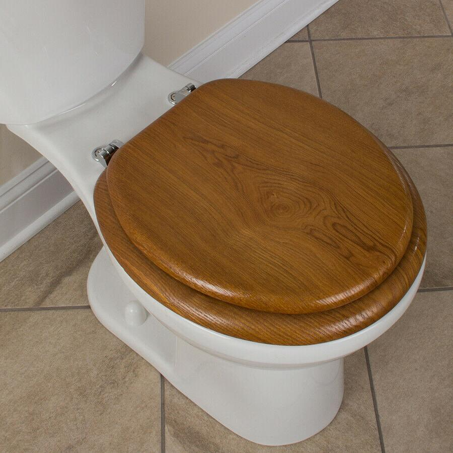 AquaSource Durable Standard Qulaity Round Toilet Seat NEW