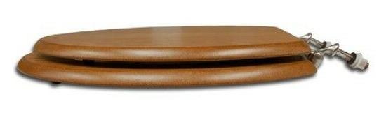 Comfort Elongated Toilet Seat with Oak