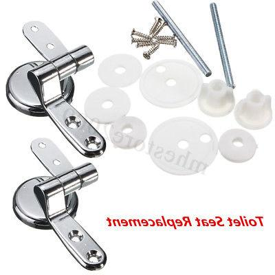 Pair of Chrome Toilet Fixings Repair