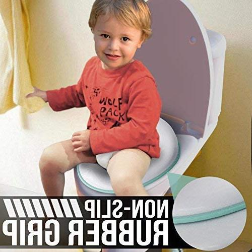 Potty Boys and Round & Oval Non-Slip with Splash Includes Storage Hook - Jool Baby