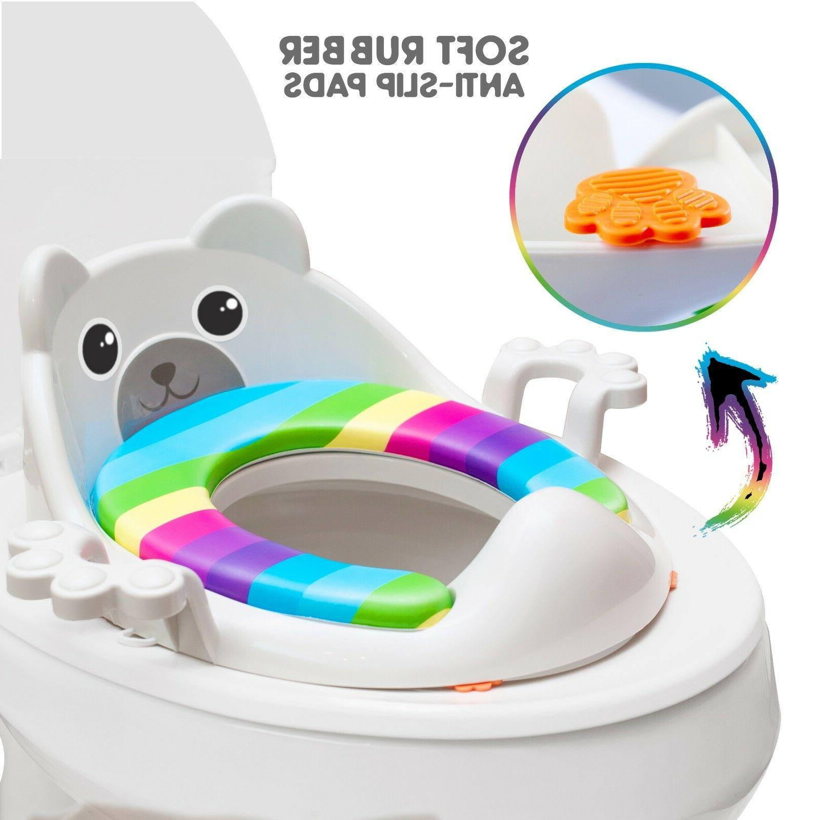 Potty Toddlers Splash Guard and Oval Toilet