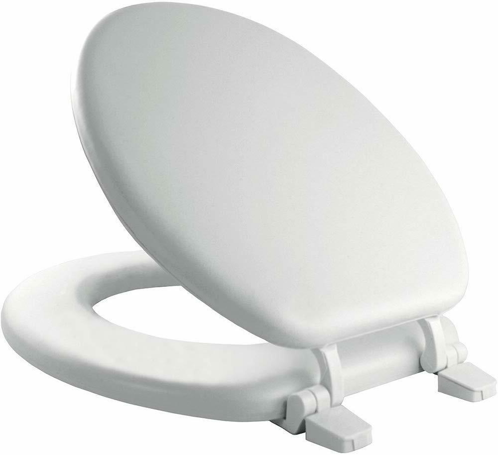 MAYFAIR 11 000 Economy Soft Cushion Toilet Seat, ROUND, Whit