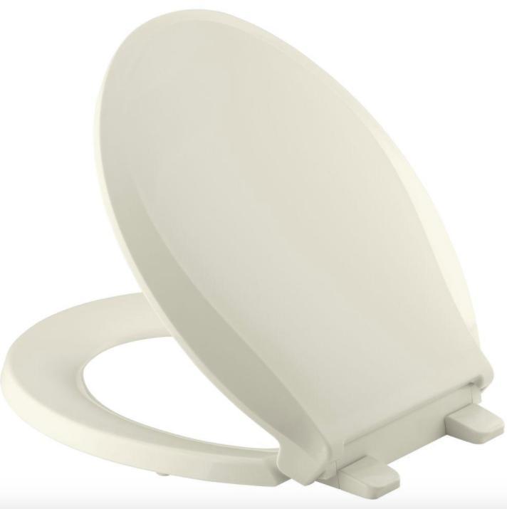 KOHLER Quiet Close Round Toilet Seat Lift Off Lid Cover Bump