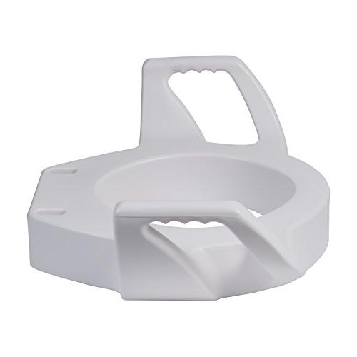 DMI Raised Toilet Seat with Arms and Mounting Bolts, Standard, White