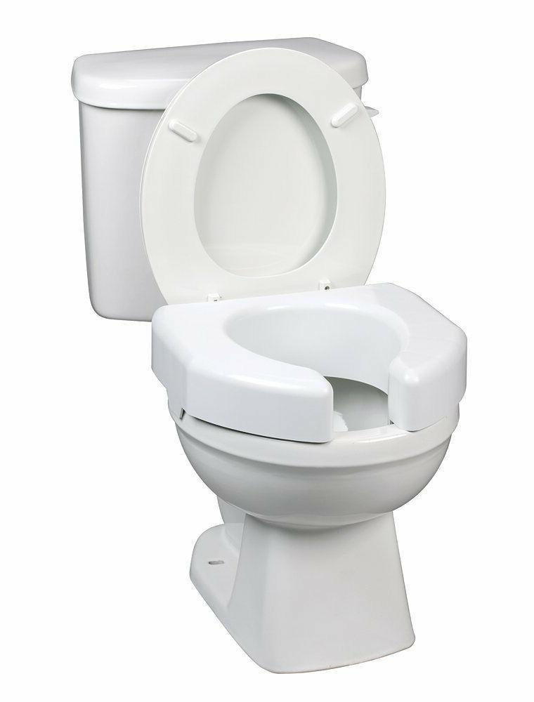 raised toilet seat 3 white 350 lbs