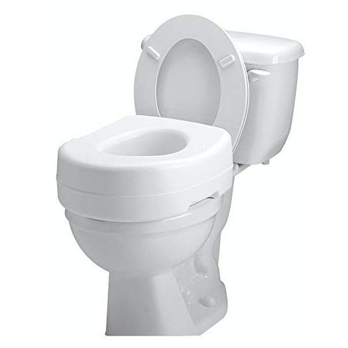 Carex Toilet - Adds 5 of Height to - Seat With Capacity - Slip-Resistant