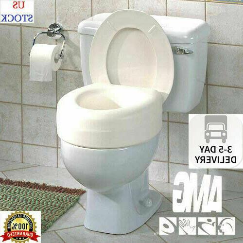 AquaSense Portable Raised Toilet Seat, White, 4 Inches