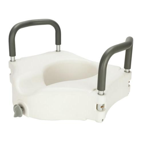 Raised Toilet Seat Lift 6in Safety Handicap w/ Arms