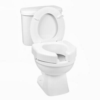 Raised Toilet Seat 3 Inch White 350 Lbs