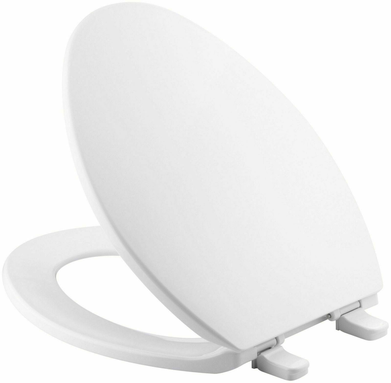 replacement elongated toilet seat closed front white