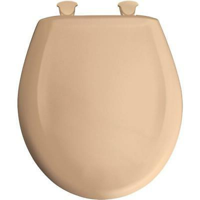 Residential Plastic Round Toilet Seat, Peach Bisque