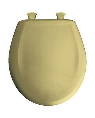 Residential Plastic Round Toilet Seat, Harvest Gold