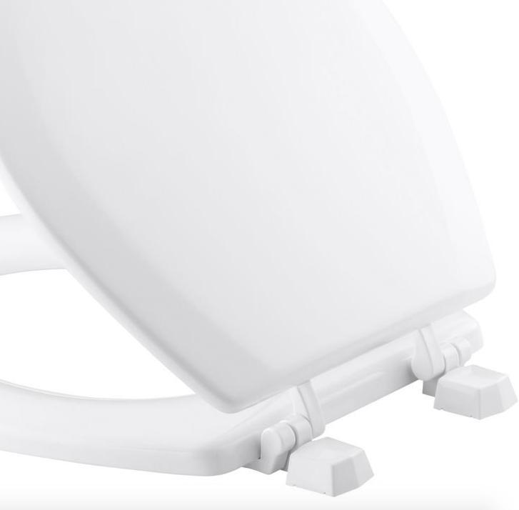 Kohler Round Bathroom Seat Lid Cover Wood Hardware New