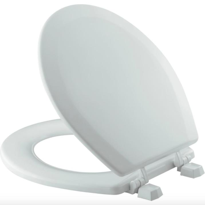 Kohler Round Closed Front Bathroom Toilet Seat Lid Cover Gre