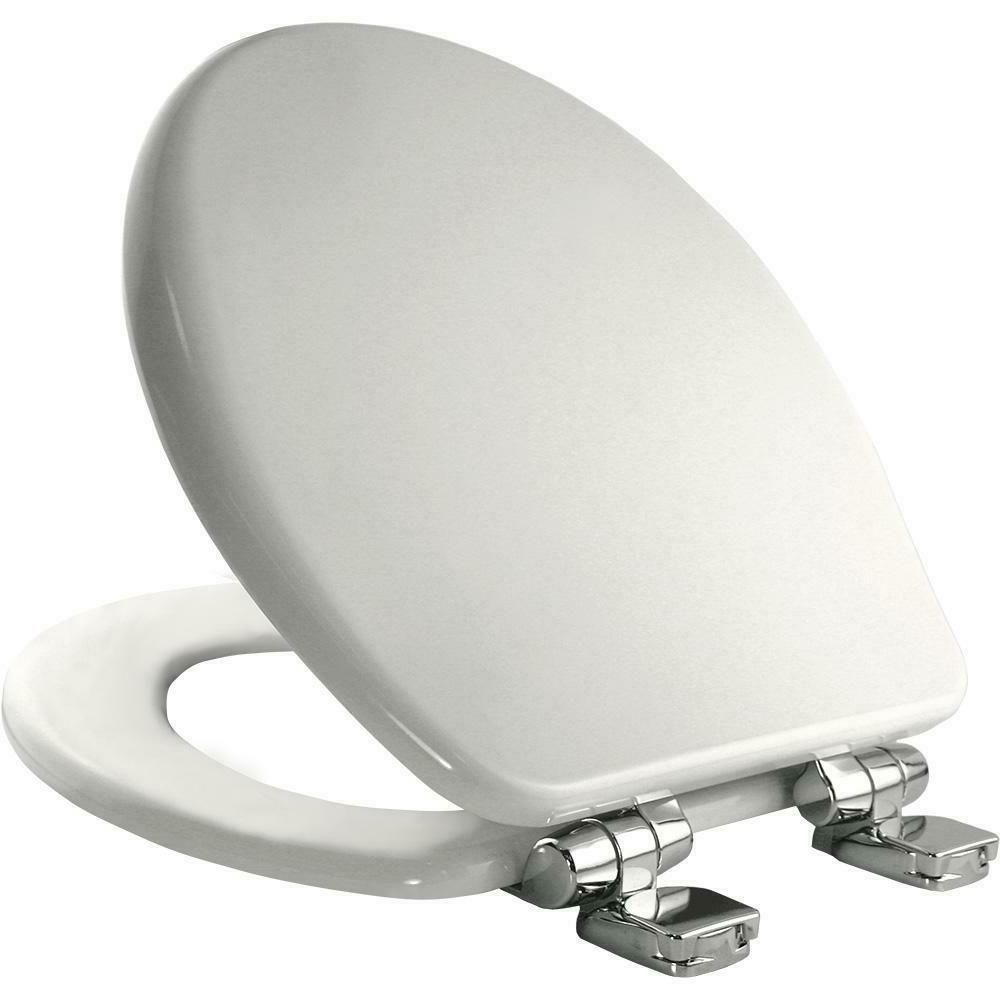 Round Closed Front High Density Molded Wood Toilet Seat wit