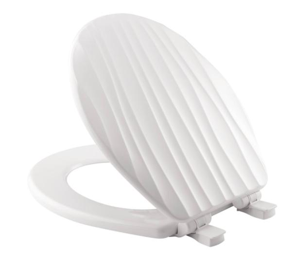 BEMIS Round Closed Front Toilet Seat Lid Cover White Slow So