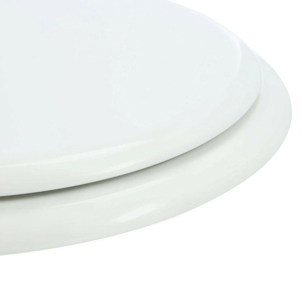 Front Round Replacement Gloss White TOILET SEAT