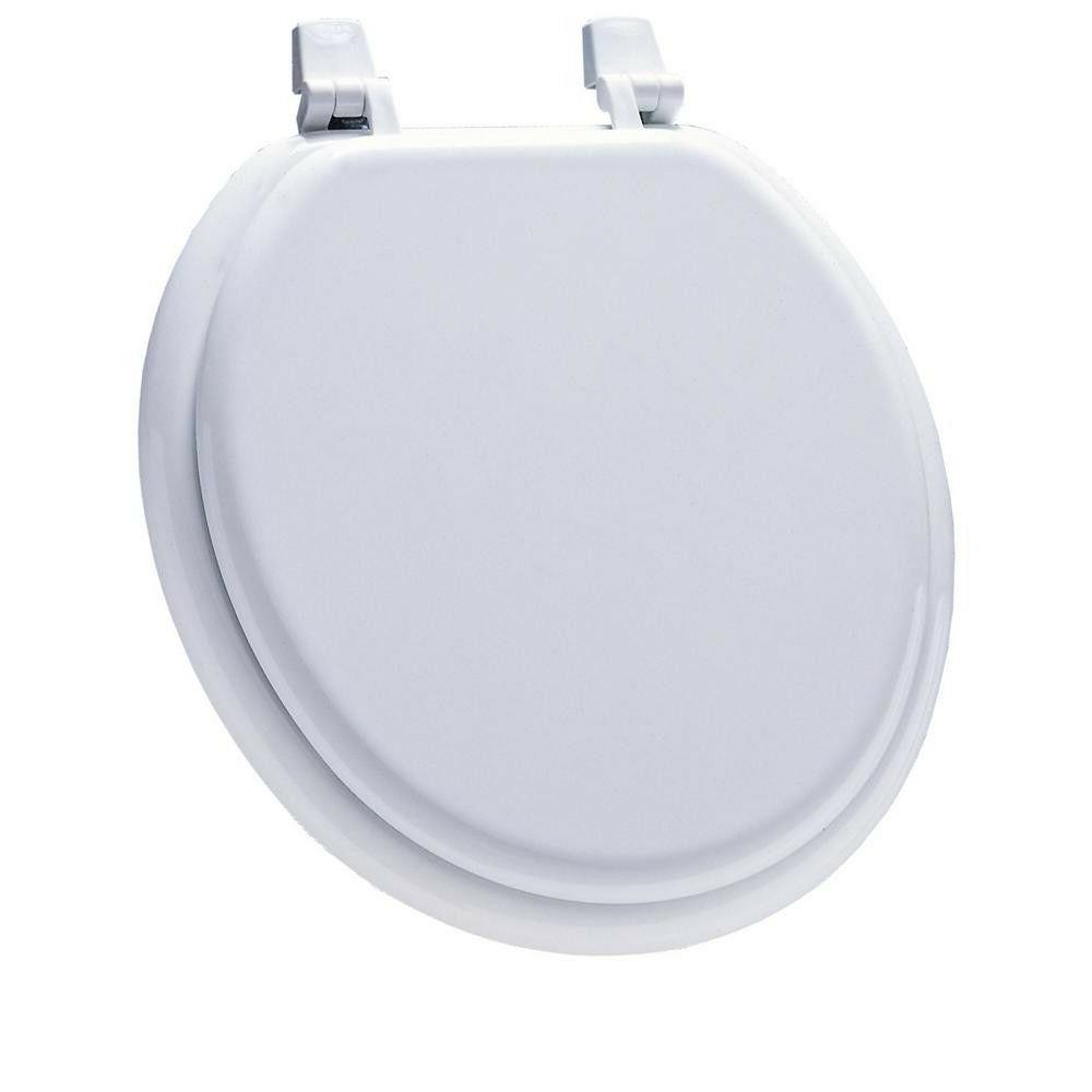 Front Round Closed Replacement Seat Hinges Gloss White TOILET