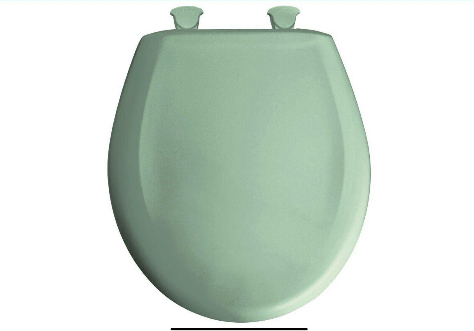 round closed front toilet seat sea green