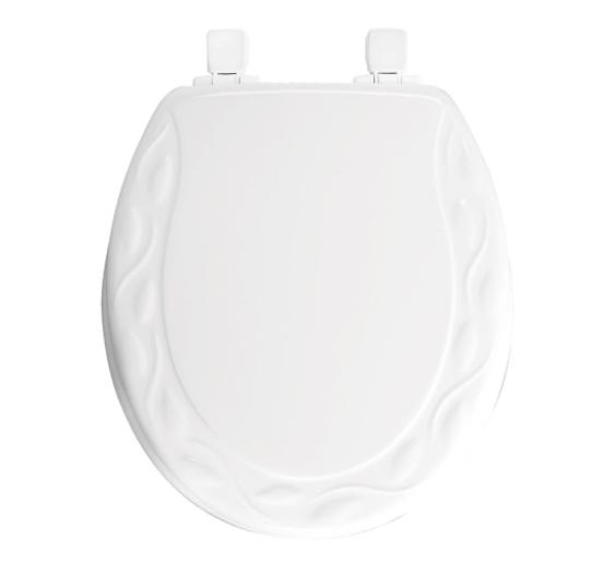 BEMIS Round Closed Front Toilet Seat White Lift Off Lid Cove
