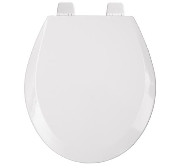 BEMIS Round Open Toilet Seat Lid Cover White Hardware Hinges