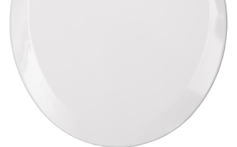 BEMIS Front Toilet Seat Lid Cover White Hardware Bathroom Hinges