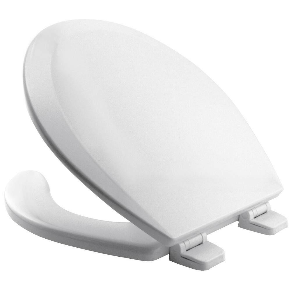 round open front toilet seat lid cover