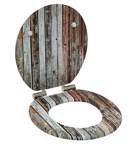 Sanilo Round Toilet Wide Close Toilet Seats, Wood,