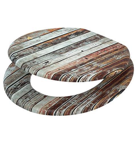 Sanilo Round Toilet Seat, Wide Close Toilet Seats, Molded Wood,