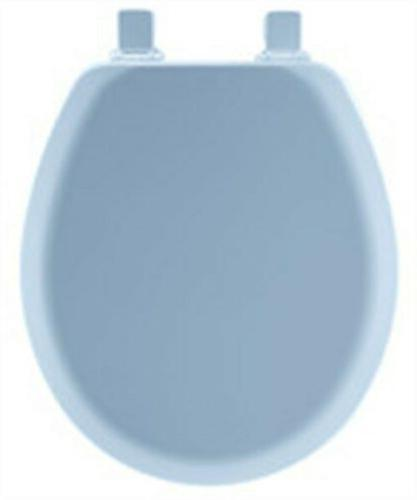 Mayfair Never Loosens Blue Molded Toilet Seat