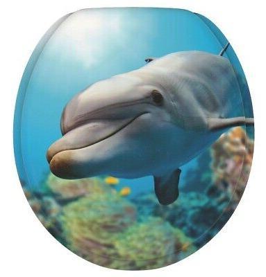 round toilet seat dolphin