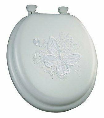round toilet seat embroidered