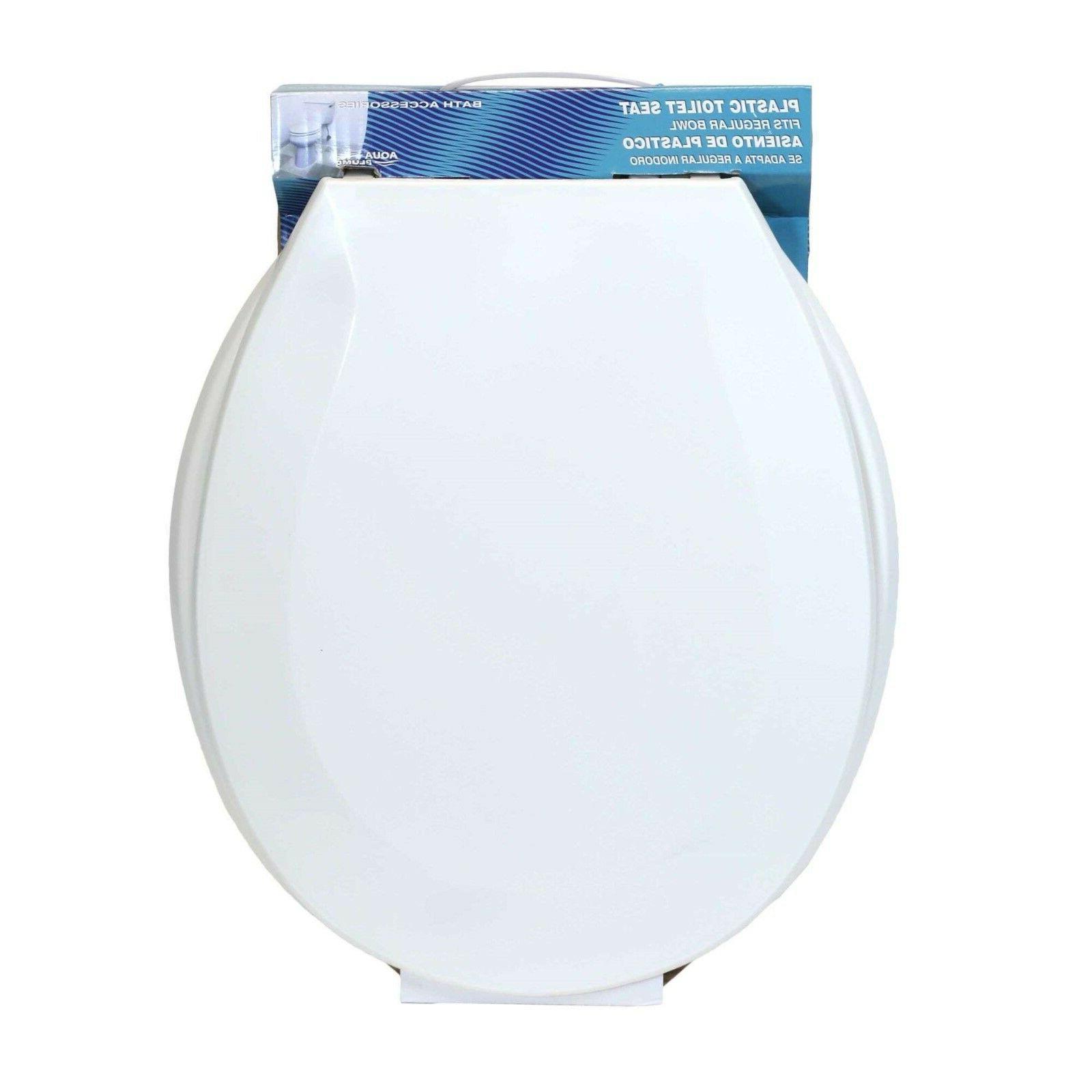 Aqua Plumb Round Toilet Seat Plastic White Case 6 Soft Cts10