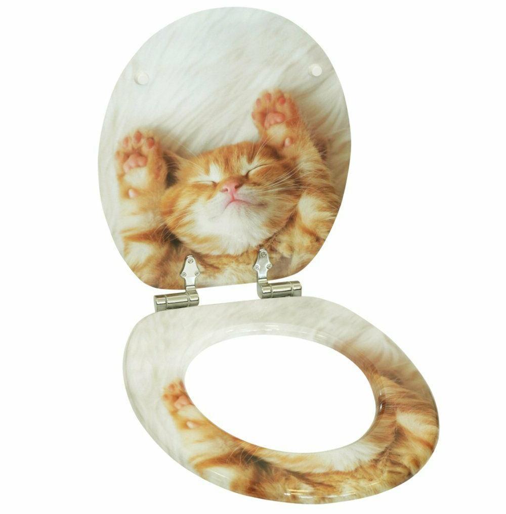 Sanilo Toilet Slow kitty kitten wooden
