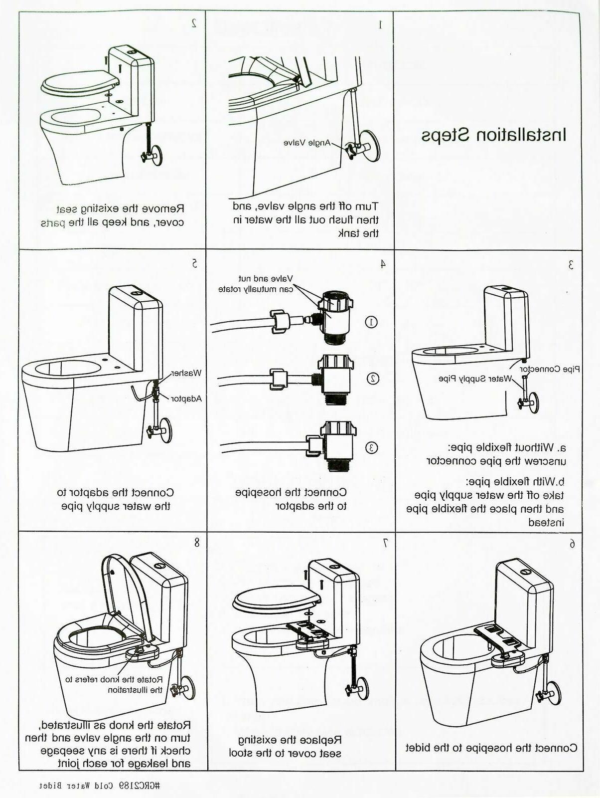 RV Sprayer Toilet Seat Attachment Beday Water