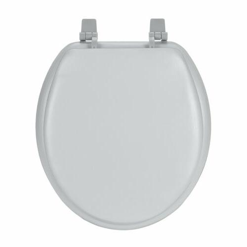 silver soft padded toilet seat premium cushioned