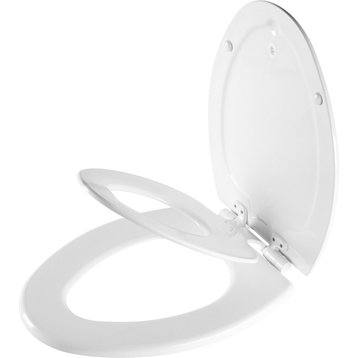 Bemis NEXT STEP Slow Close Easy Change Toilet Seat Round and