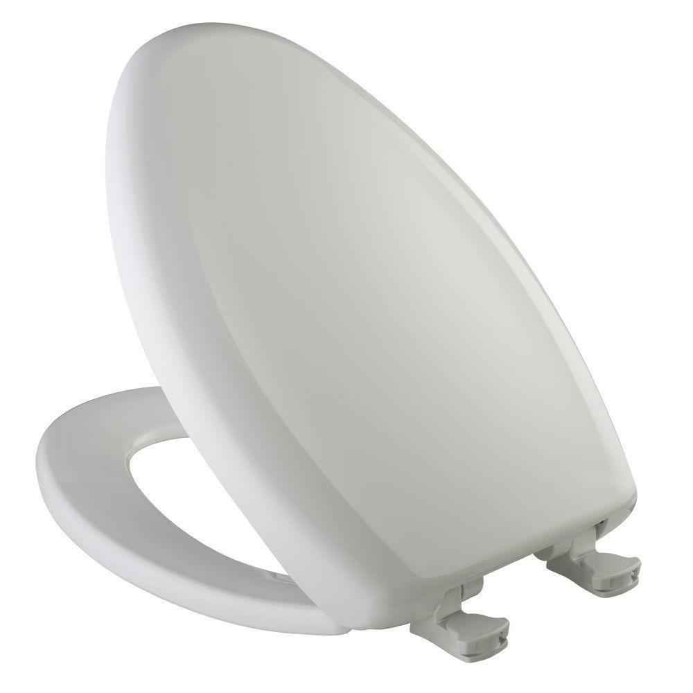 BEMIS Slow Soft Close Elongated Closed Front Toilet Seat Whi
