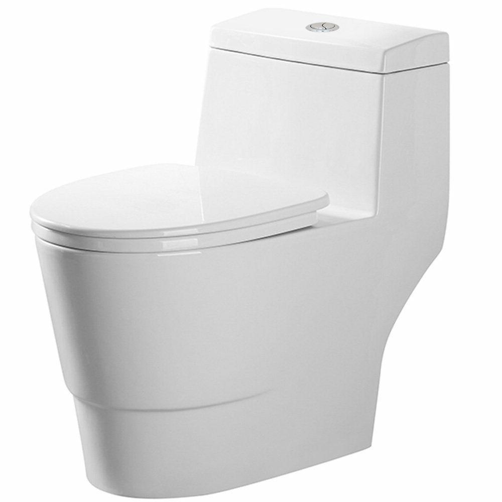 Soft-Close One Piece Modern White Ceramic Toilet B0940 with