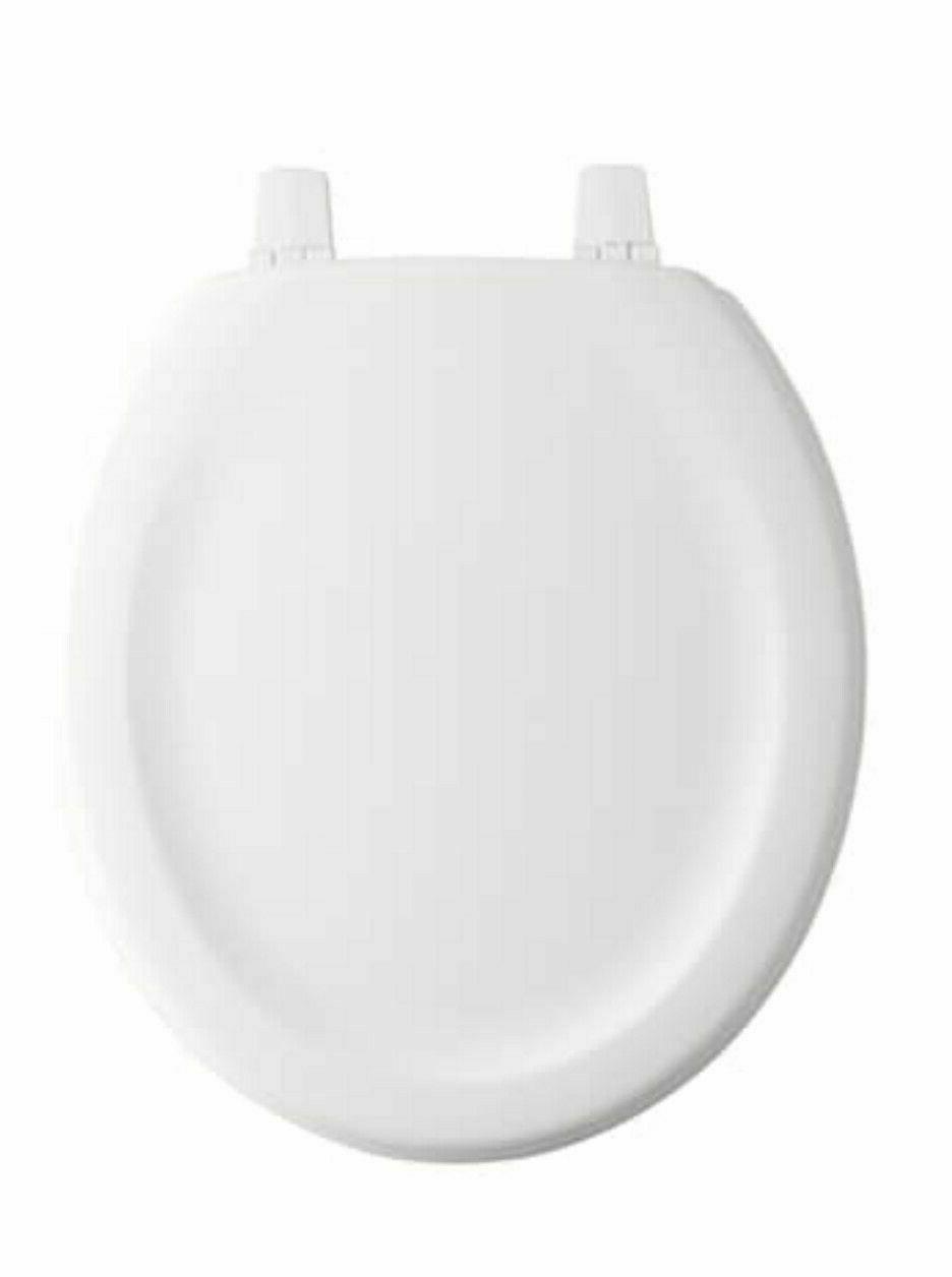KOHLER Stonewood Wood Round Toilet Seat White Universal