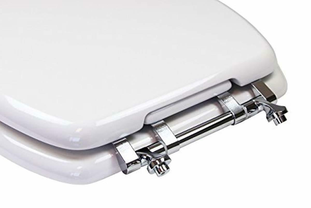Toilet Seat, Adult/Child, w/Chromed Metal Hinges (