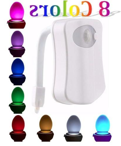 Toilet night motion activated seat 8 color automatic sensing bowl