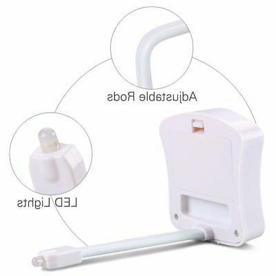Toilet Night Sensing Activated Bathroom 8 Lamp