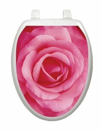 toilet seat decor rose removable reusable