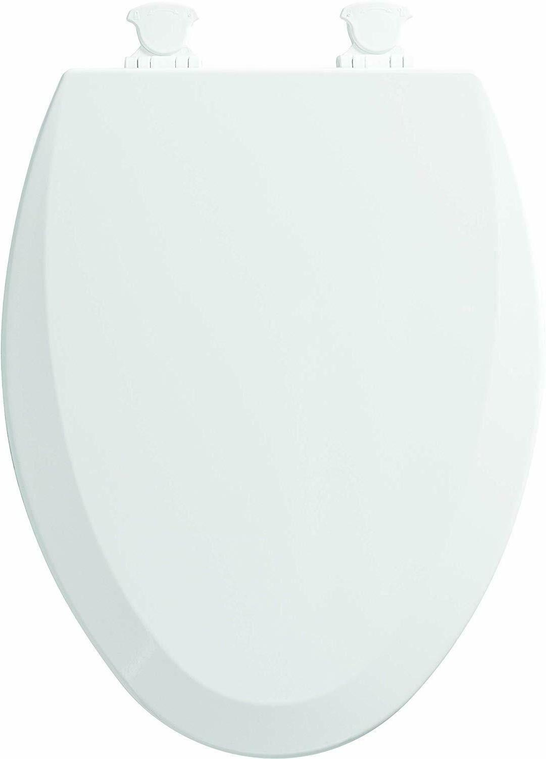 Elongated Toilet Seat Close Front Wood With Easy Clean Chang