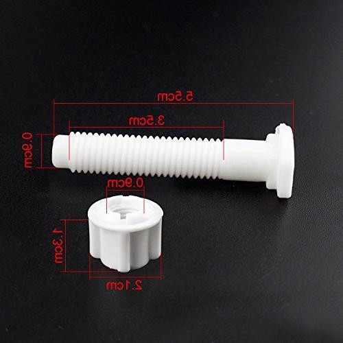 BTNOW Toilet Seat Hinge Universal White Plastic Seat 4